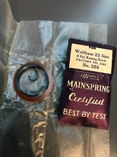 Waltham Mainspring Size 22. 8 Day Running Barrel. Factory 2245 Marco #256