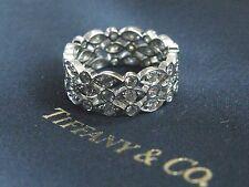 Tiffany & Co Platinum Swing 3-Row Diamond Ring Size 6