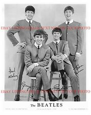 THE BEATLES SIGNED 8x10 RP PHOTO FAB 4 JOHN LENNON PAUL GEORGE AND RINGO