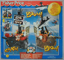 FISHER PRICE 2000 DOUBLE DUEL PIRATE SHIP EUROPEAN BOXED MISB SEALED VERY RARE
