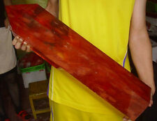"57.1LB 26"" GIANT HUGE RED MELTING QUARTZ CRYSTAL POINT HEALING"