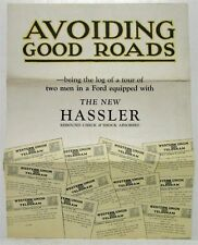 1924 Hassler Rebound Check and Shock Absorber for Ford Cars Sales Brochure