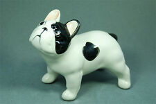 French Bulldog (pied) ceramic dog figurine. Great gift for dog lovers.
