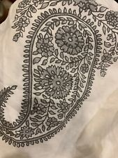 "Pottery Barn Rayna Drape Panel Gray 50x 84"" Paisley Curtains Bhotah"