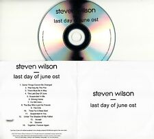 STEVEN WILSON Last Day Of June OST 2018 UK 15-trk numbered promo test CD PS4