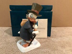 "WDCC Mickey's Christmas Carol - Scrooge McDuck ""Ebenezer Scrooge"" + Box & COA"