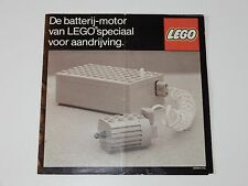 VINTAGE LEGO 1977 CATALOG FOLDER FOLDOUT 'DE BATTERIJ MOTOR' TECHNIC DUTCH