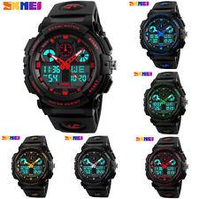 SKMEI Watch Men Waterproof Sport Army Alarm Date Analog Digital Wristwatches
