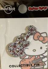 Hard Rock Cafe ORLANDO 2019 HELLO KITTY Collage Guitar PIN on Card LE 300 New!