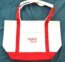 "Shania Twain ""Rock This Country"" Tour VIP Rare Red Tote Bag + now w/free gift"
