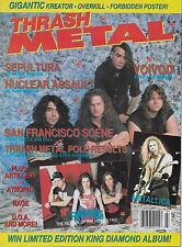 7/90 issue of THRASH METAL magazine  METALLICA  PRONG  VOIVOD Sepultra Artillery