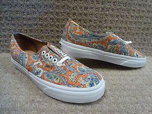 """Vans Men's Shoes """"Authentic +"""" -- (Paisley) Cayenne"""