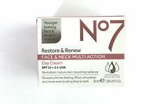 No7 Restore & Renew Face & Neck Multi-Action DAY Cream - SPF 15 - 50ml