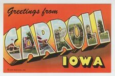 [66244] OLD LARGE LETTER POSTCARD GREETINGS from CARROLL, IOWA