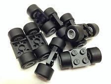 LEGO 6157 - 8x DOUBLE Axle Pin Brick 2x2 CHUNKY Tyres & Wheels 74967 / 30028