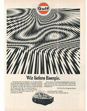 GULF - MOTOROIL    - alte Annonce - historische Reklame -  old  advert