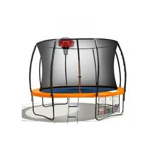 Trampoline Pro 10Ft Reversible Pad Emoji Mat Basketball Set