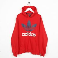 Vintage Adidas Grand Logo Sweat-Shirt à Capuche Rouge Grand