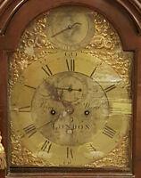 HORLOGE DE PARQUET. BENJAMIN WARD. MEUBLES EN ACAJOU HORLOGE. LONDRES. XVIII È.