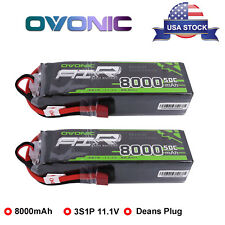 2 Pack 8000mAh 3S 11.1V Lipo Battery 50C Power Deans Plug For RC Car Truck Buggy
