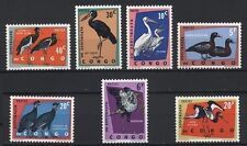 Congo 1963 MNH 7v, Water Birds, Pelicans, Ducks (C8n)