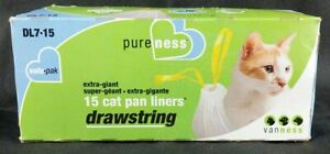 Van Ness Drawstring Cat Pan Liners, New corrupt box