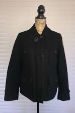 MONCLER Down Quilted Technical Wool Field Jacket, size 2,ELLE, Authenticated !!!