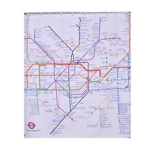 London Subway Tube Map Modern Style Waterproof Bath Shower Curtains DIY Home