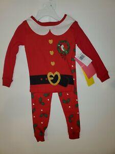 NWT KOMAR KIDS Red Christmas Santa Pajamas Set Size 2T