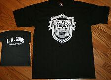 L.A. GUNS World Tour autograph/signed T-Shirt Men Large Hard Rock Metal LA Guns