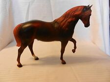 "Breyer Red Morgan Horse Left Foot In Air Traditional Size 7.75"" Tall"