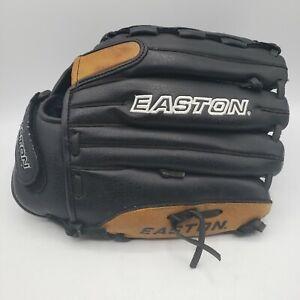 Easton 12 1/2 Black Magic LHT BX125OB Bassball Glove Black Brown