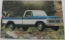 RANGER XLT F100 PICKUP TRUCK NOS 1977 PROMO FORD DEALER DEALERSHIP POSTCARD