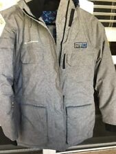 Super Bowl XLVIII Transportation NY/NJ NFL Football  Heavy Grey Jacket Size L