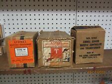 Lionel Prewar 3 Transformer Boxes W, T & 1030 Jr.