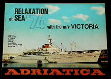 ITALIAN LINE Cruises 1974 - VICTORIA - ADRIATICA - SHEDULES - MIDDLE EAST