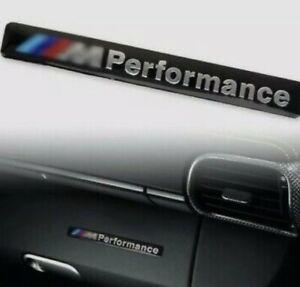 2x BMW M PERFORMANCE 3D BADGE LOGO EMBLEM STICKER GRAPHIC DECAL SPORT M2 M3 M4M5