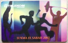 Malaysia Used Phone Cards - SUKMA IX Sabah 2002
