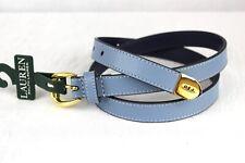 LAUREN RALPH LAUREN Belt Size S Bennington Pebble Blue Retail $38