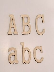 Laser Cut Wooden Letters, Gung Font, Crafting Supplies, Mutpl Size & Thickness