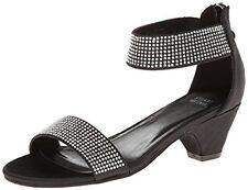 NEW STUART WEITZMAN Verna Alexandra Girls Sandals Black Silver Studs Shoes 2