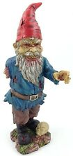 """11.5"""" Zombie Garden Gnome Evil Bloody Undead Statue Missing One Arm"""