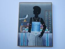 JEAN CASIMIR PAINTING VINTAGE HAITIAN MODERNISM PORTRAIT TROPICAL FOLK ART