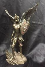 Arch Angel Raguel Bronze Cold Cast Coated Statue 33cm High Angel Of Justice