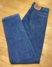 LEVIS 505 Vintage USA Made 31 x 32 Red Care Tag Mens Blue Jeans Great Condition