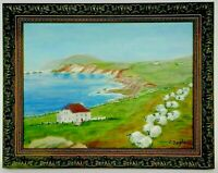 "M.JANE DOYLE SIGNED ORIGINAL ART OIL/CANVAS PAINTING ""COUNTY KERRY, IRELAND"" FR"
