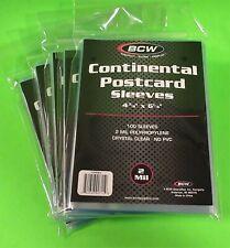 "500 CONTINENTAL EUROPEAN POSTCARD SLEEVES 4-3/8"" x 6-1/4"", CRYSTAL CLEAR"