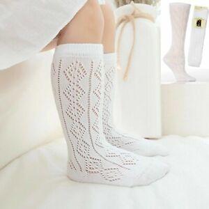 New 1-3 Pairs Girls White Pelerines Socks Long Back To School Knee High Pelerine