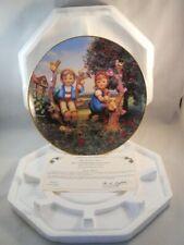 1989 Danbury Mint Hummel Collector Plate -Little Companions -Apple Tree W/Cert