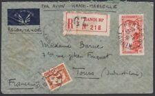D'Indo-Chine, 1939. Lettre Recommandée Aérien C18, 166, Hanoi - Tours